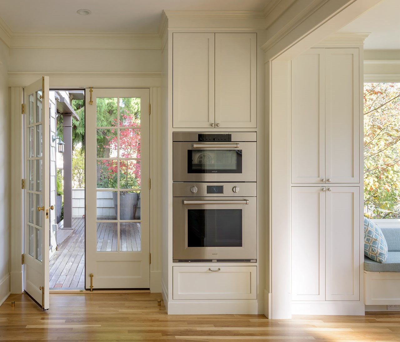 Madrona oven and french doors