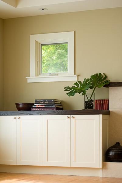 Doyle living room cabinet detail