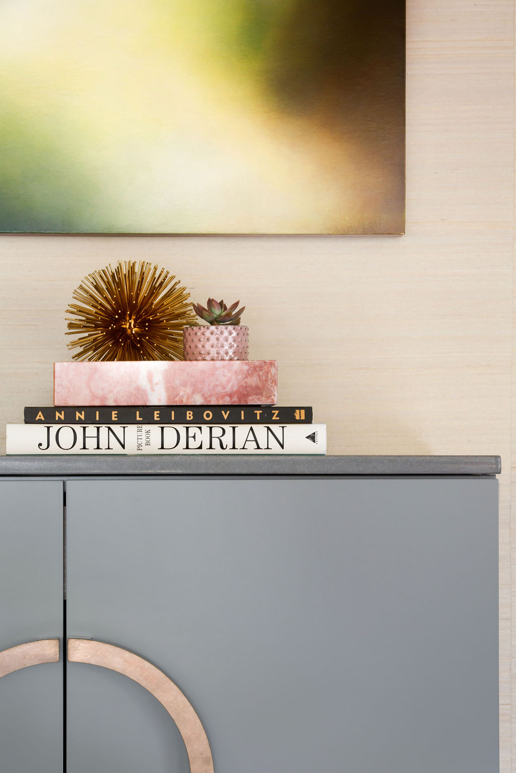 Gold-grey-console-table-detail